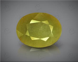 Natural Heated & Treated Yellow Sapphire Certified 5.72 CTS ( 8232/15 )