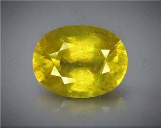 Natural Heated & Treated Yellow Sapphire Certified 6.59 Cts( 88402 )