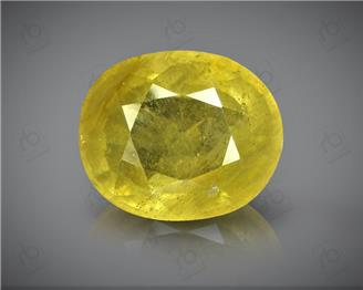Natural Heated & Treated Yellow Sapphire Certified 5.55 (CTS) ( 88601 ) (D)