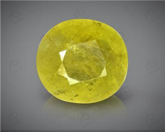 Natural Heated & Treated Yellow Sapphire Certified 5.98 (CTS) ( 88628 )