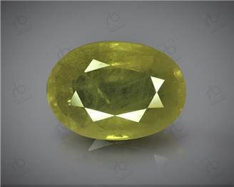 Natural Heated and Treated Yellow Sapphire Certified 4.49 cts ( 50169 )
