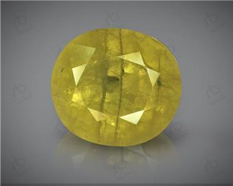 Natural Heated and Treated Yellow Sapphire Certified  6.48 cts ( 1574 )