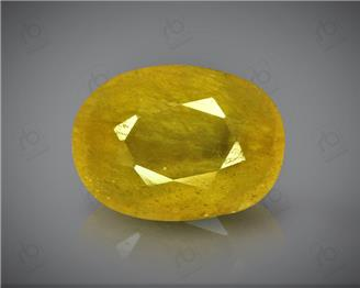 Natural Heated & Treated Yellow Sapphire Certified  5.79 (CTS) ( 62887 )