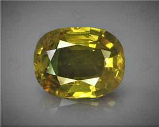 Natural Heated & Treated Yellow Sapphire Certified  4.03 CT ( 54620 )