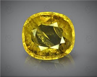 Natural Heated & Treated Yellow Sapphire Certified  4.80 cts ( 4621 )