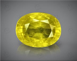Natural Heated & Treated Yellow Sapphire Certified  4.36 carats (DIN 84657 )