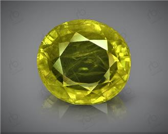 Natural Heated & Treated Yellow Sapphire Certified 5.1 carats (DIN 84674 )