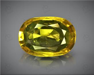 Natural Heated & Treated Yellow Sapphire Certified  5.38 (CTS) ( 85589 ) (D)