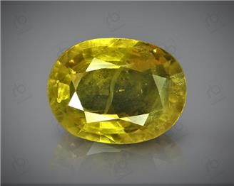 Natural Heated & Treated Yellow Sapphire Certified 2.15 CTS (DIN 86118 )