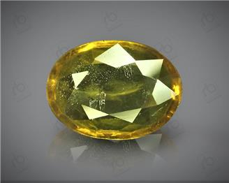 Natural Heated & Treated Yellow Sapphire Certified 2.50 CTS (DIN 86119 )
