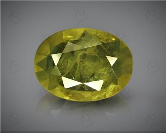 Natural Heated & Treated Yellow Sapphire Certified  2.00 CTS (DIN 86127 )