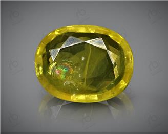 Natural Heated & Treated Yellow Sapphire Certified 2.23 CTS (DIN 86169 )