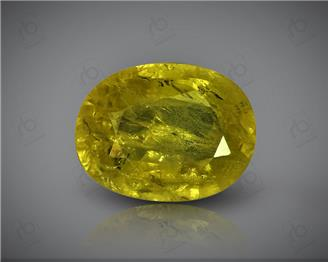 Natural Heated & Treated Yellow Sapphire Certified  2.73 CTS (DIN 86183 )