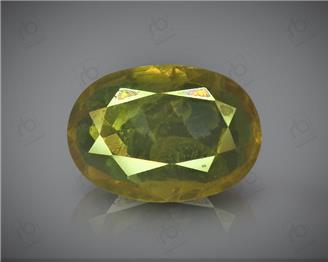 Natural Heated & Treated Yellow Sapphire Certified 2.38 CTS (DIN 86189 )