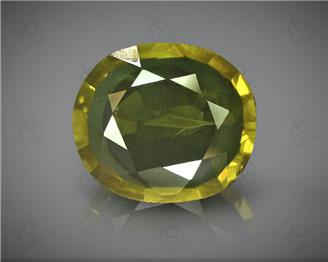 Natural Heated & Treated Yellow Sapphire Certified  2.42 CTS (DIN 86190 )