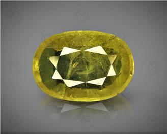 Natural Heated & Treated Yellow Sapphire Certified  3.66 CTS (DIN 86195 )