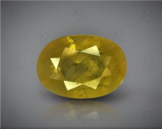 Natural Heated & Treated Yellow Sapphire Certified   2.08 CTS (DIN 86198 )