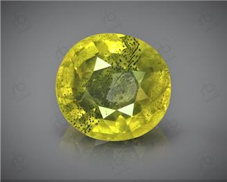 Natural Heated & Treated Yellow Sapphire Certified 2.17 CTS (DIN 86204 )