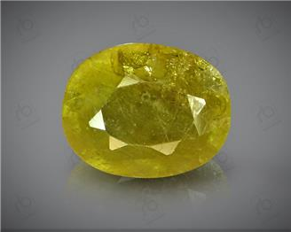 Natural Heated & Treated Yellow Sapphire Certified  5.68 carats -96532  (YELLOW)
