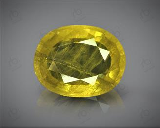Natural Heated & Treated Yellow Sapphire Certified 4.39 cts ( 7290 )
