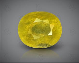 Natural Heated & Treated Yellow Sapphire Certified 6.28 CTS ( 8205/15 )