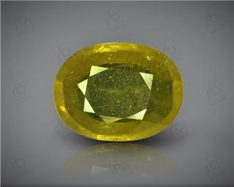 Natural Heated & Treated Yellow Sapphire Certified 7.08 (CTS) ( 88398 )