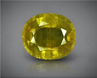 Natural Heated & Treated Yellow Sapphire Certified 10.37 Cts ( 88415 )