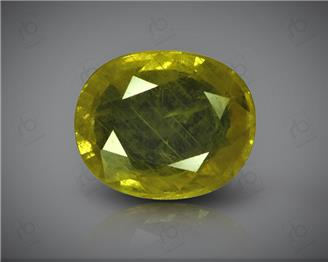 Natural Heated & Treated Yellow Sapphire Certified 4.97 CTS (9943)
