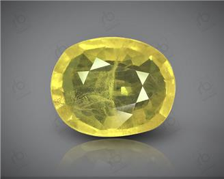 Natural Heated & Treated Yellow Sapphire Certified 3.66 CTS (0208)