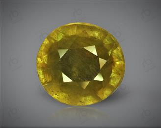Natural Heated & Treated Yellow Sapphire Certified 7.74 (CTS) ( 62917 )