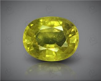 Natural Heated & Treated Yellow Sapphire Certified 3.96 (CTS) ( 85572 )