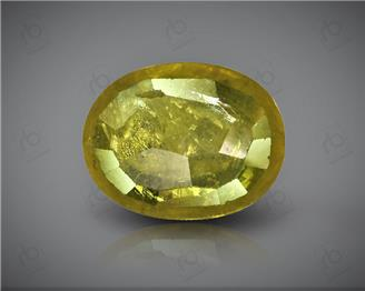 Natural Heated & Treated Yellow Sapphire Certified 2.69 CTS (DIN 86120 )