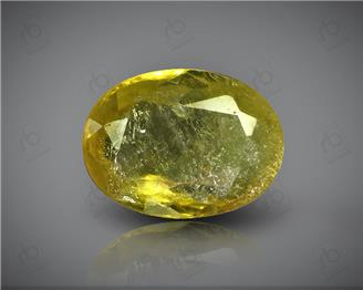 Natural Heated & Treated Yellow Sapphire Certified 2.45 CTS (DIN 86129 )