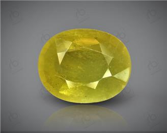 Natural Heated & Treated Yellow Sapphire Certified 4.61 CTS (DIN 86153 )