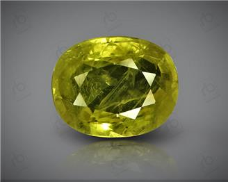 Natural Heated & Treated Yellow Sapphire Certified 3.05 CTS (DIN 86159 )