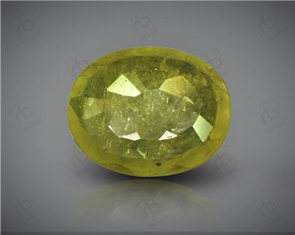 Natural Heated & Treated Yellow Sapphire Certified 2.70 CTS (DIN 86160 )