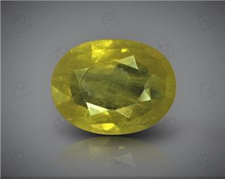 Natural Heated & Treated Yellow Sapphire Certified 3.25 CTS (DIN 86164 )