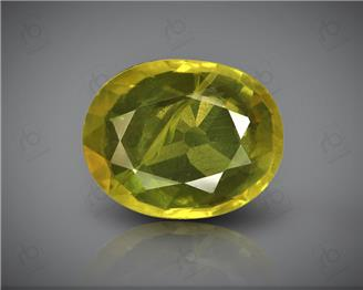 Natural Heated & Treated Yellow Sapphire Certified 3.43 CTS (DIN 86194 )