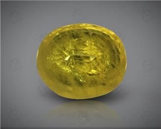 Natural Heated & Treated Yellow Sapphire Certified 2.29 CTS (DIN 86199 )