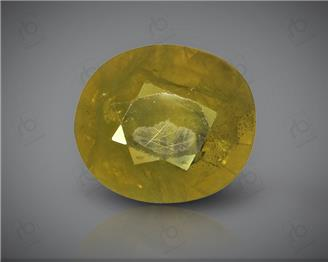 Natural Heated & Treated Yellow Sapphire Certified 2.10 CTS (DIN 86201 )