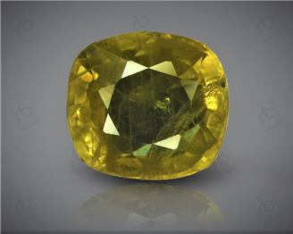 Natural Heated & Treated Yellow Sapphire Certified 3.35 CTS (DIN 86216 )