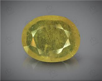 Natural Heated & Treated Yellow Sapphire Certified 5.48 (CTS) 60394