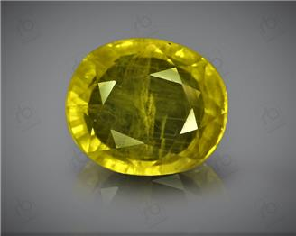 Natural Heated & Treated Yellow Sapphire Certified 4.16 carats (DIN 84641 )