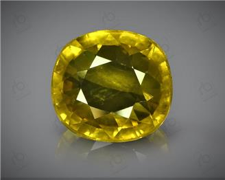 Natural Heated & Treated Yellow Sapphire Certified 4.42 (CTS) ( 85597 ) (D)