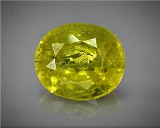 Natural Heated & Treated Yellow Sapphire Certified 3.00 CTS (DIN 86098 )