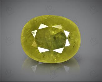 Natural Heated & Treated Yellow Sapphire Certified  3.16 CTS (DIN 86108 )
