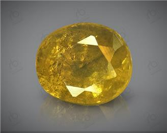 Natural Heated & Treated Yellow Sapphire Certified 4.63 CTS (DIN 86180 )