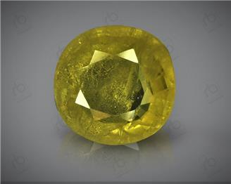 Natural Heated & Treated Yellow Sapphire Certified 3.75 CTS (DIN 86208 )