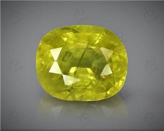 Natural Heated & Treated Yellow Sapphire Certified 3.36 CTS (DIN 86209 )