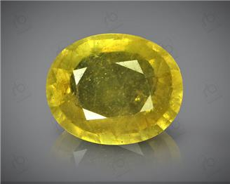 Natural Heated & Treated Yellow Sapphire Certified 5.48 (CTS) ( 88387 )